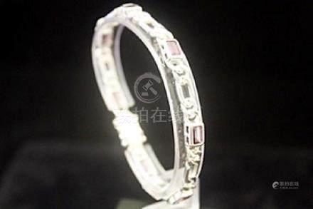 Exquisite Citrine Silver Bracelet