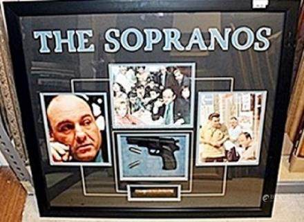 The Sopranos Photograph with gun and cigarAR5559