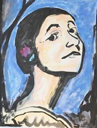 Woman - Georges Rouault - Watercolor On Paper