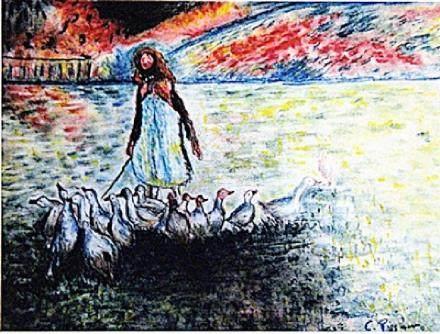 Camille Pissarro - Garden with Ducks
