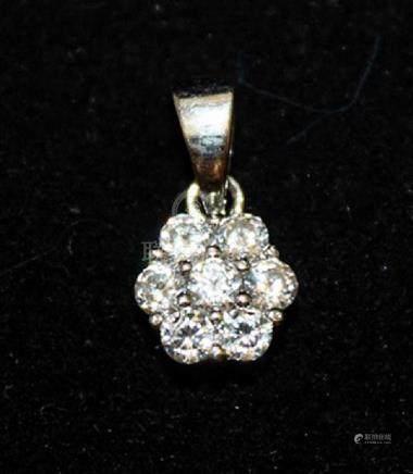 Beautiful White Sapphire Silver Pendant (20P)