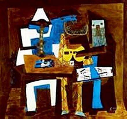 Three Musicians-Collection Domaine Picasso