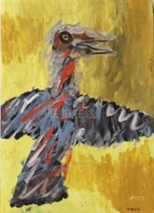 Eagle - Georg Baselitz - Oil On Paper