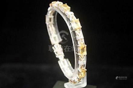 Fancy Golden Citrine Silver Bracelet