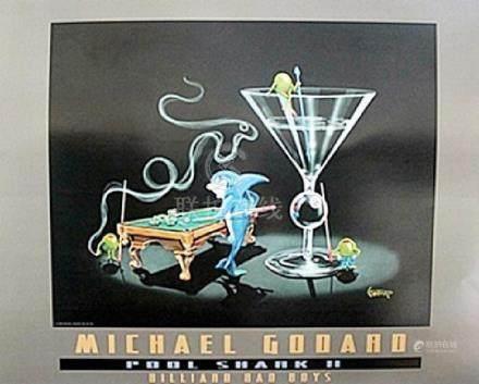 """Pool Shark ll"" Signer Poster; Michael Godard"