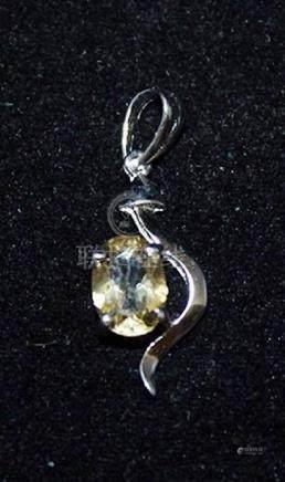 Lavish Gemstone Silver Pendant (43P)