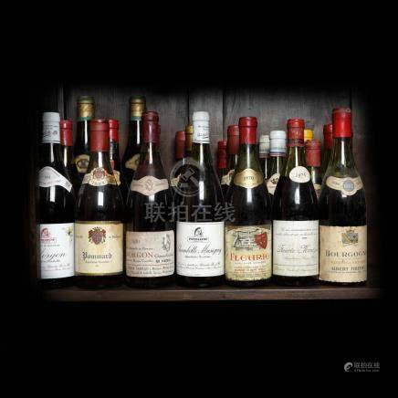 60's - 80's Burgundy Wine Collection, 21 bottle x 75 cl / 1