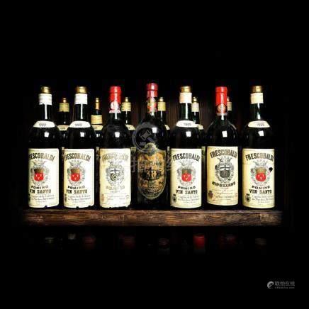 1969-1971 Frescobaldi Wine Collection, 13 bottles x 72 cl