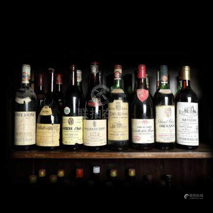 1977-1979, Italian Wine Collection, 23 bottles x 72 cl