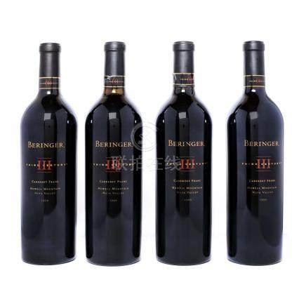 1999 Beringer, Cabernet Franc, Napa Valley, 4 bottles x 75 c