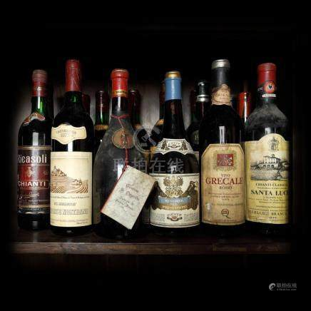 1972 Italian Wine Collection, 10 bottles x 72 cl