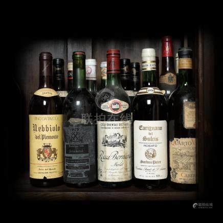 1976 Italian Wine Collection, 13 bottles x 72 cl / 1 bottle