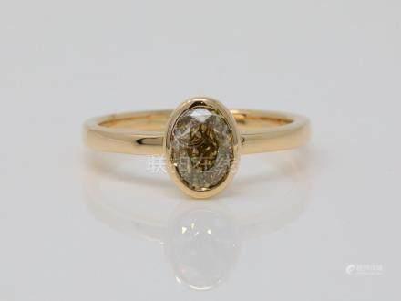 1.20ctw SI1-SI2 Yellow & White Diamond Solid 14K Yellow Gold