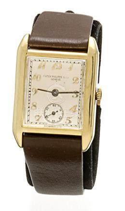 Patek Philippe 1920s Solid 18K Yellow Gold Rectangular Gent'