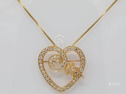 "2.50ctw SI1-SI2/G-H Diamond & Solid 14K Yellow Gold 1.25"" Pe"