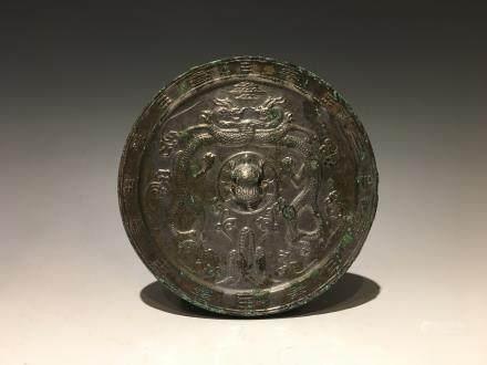 唐代雙龍銅鏡