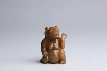 漢代 圓雕熊