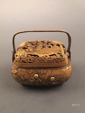 Chinese Gilt Bronze Hand Warmer