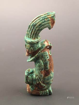 Chinese Turquoise Statue Ornament
