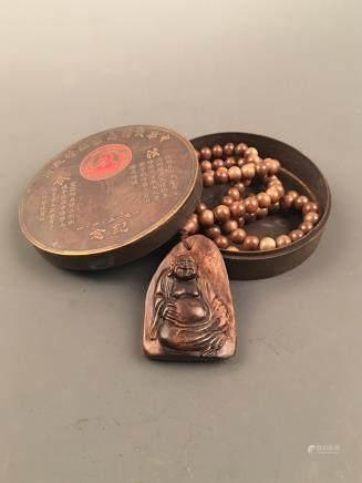 Chinese Agilawood Buddha Necklace