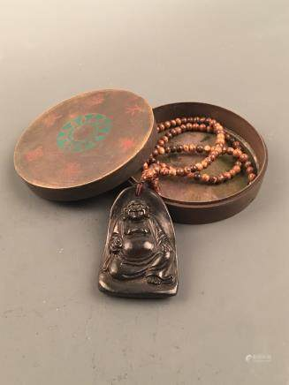 Chinese Agilawood 'Maitreya' Necklace