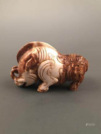 Chinese Archaic 'Wild Boar' Jade Statue Ornament