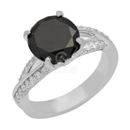 14k White Gold 3.11ct & 3.76ct Diamond Ring
