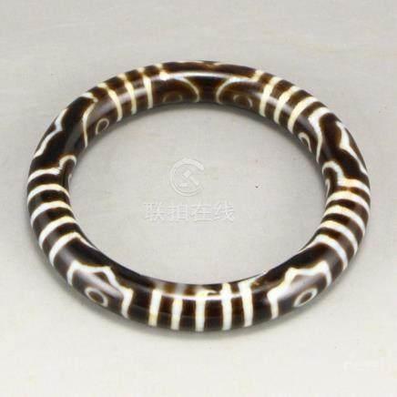 Vintage Tibetan Sky Eye DZI Agate Bracelet