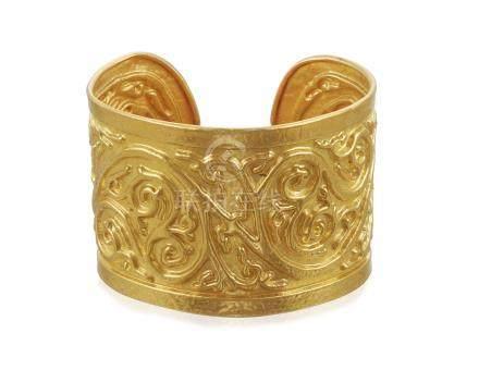 LALAOUNIS GOLD CUFF BRACELET