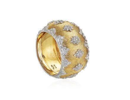 BUCCELLATI TWO-TONE GOLD RING