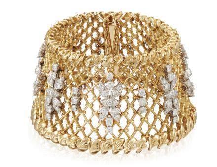 DIAMOND AND GOLD BRACELET