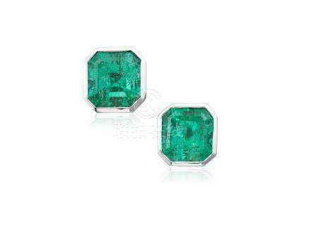 EMERALD EARRINGS WITH AGL REPORT