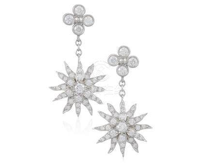 TIFFANY & CO. DIAMOND STARBURST EARRINGS