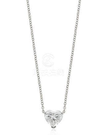 TIFFANY & CO. HEART SHAPED DIAMOND NECKLACE