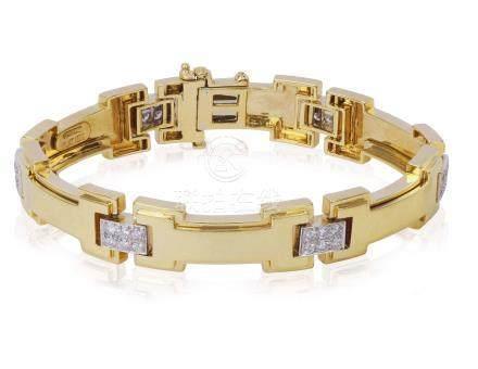 DAVID WEBB DIAMOND AND GOLD BRACELET