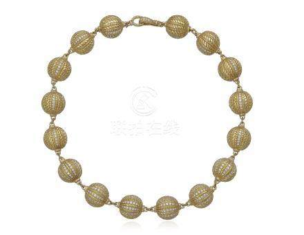 JUDITH RIPKA GOLD AND DIAMOND NECKLACE