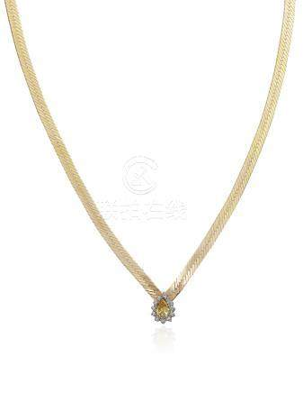 TREATED COLORED DIAMOND NECKLACE