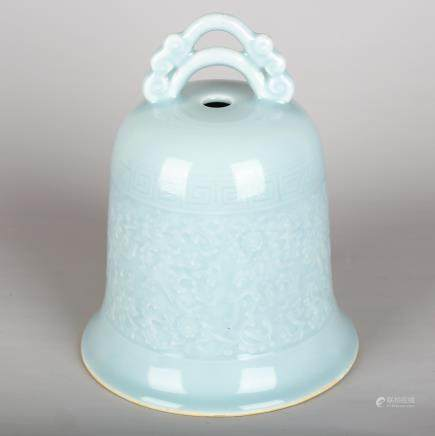 CHINESE CLAIR DE LUNE PORCELAIN BELL