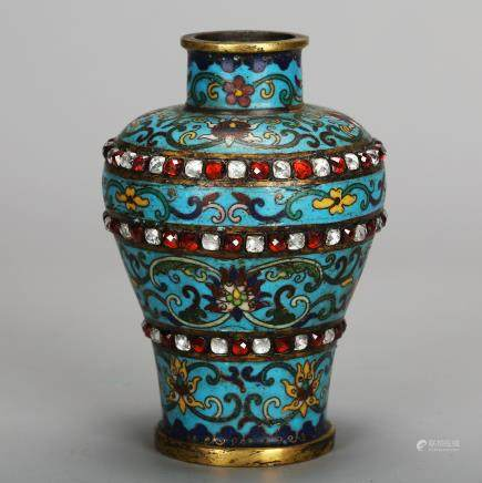 CHINESE CLOISONNE MEIPING VASE