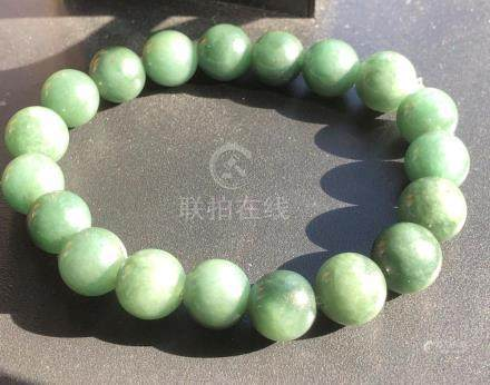 Natural Jadeite Beads Bracelet