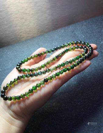 Natural Green Tourmaline Beads Necklace