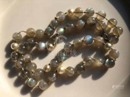 Vintage Fluorite Beads Necklace