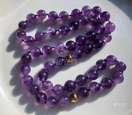 Vintage Amethyst Beads Necklace