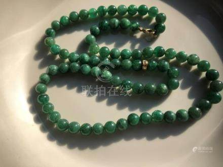 Vintage Green Beads Necklace