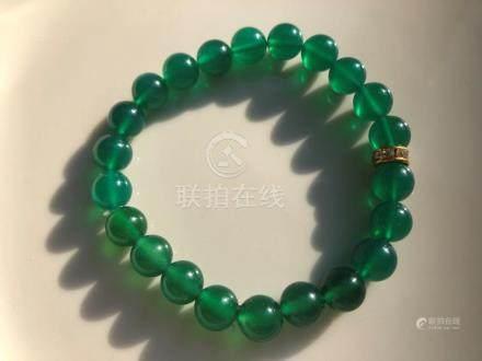 Vintage Green Beads Bracelet