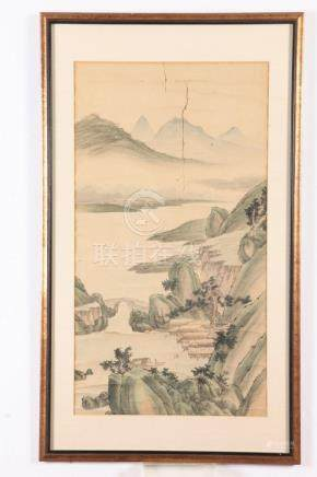 "ANONYMOUS (Chinese,). ""LANDSCAPE"", ""LANDSCAPE"", Two watercol"