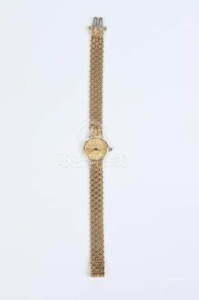 LADY'S 14K YELLOW GOLD WRISTWATCH BY BAUME AND MERCIER, - L: