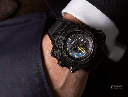 Hublot KING POWER OCEANOGRAPHIC 1000 CARBON LIMITED EDITION CARBON FIBRE CHRONOGRAPH WRISTWATCH WITH DATE  CIRCA 2014