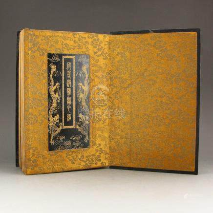 Chinese Qing Dynasty Green Jade Buddhist Sutra Book