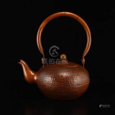 Vintage Chinese Red Copper Teapot